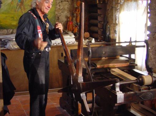 Giacomo de Pass et sa presse lithographique