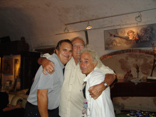 with Georges Lautner and Michel Claret at Giacomo de Pass home
