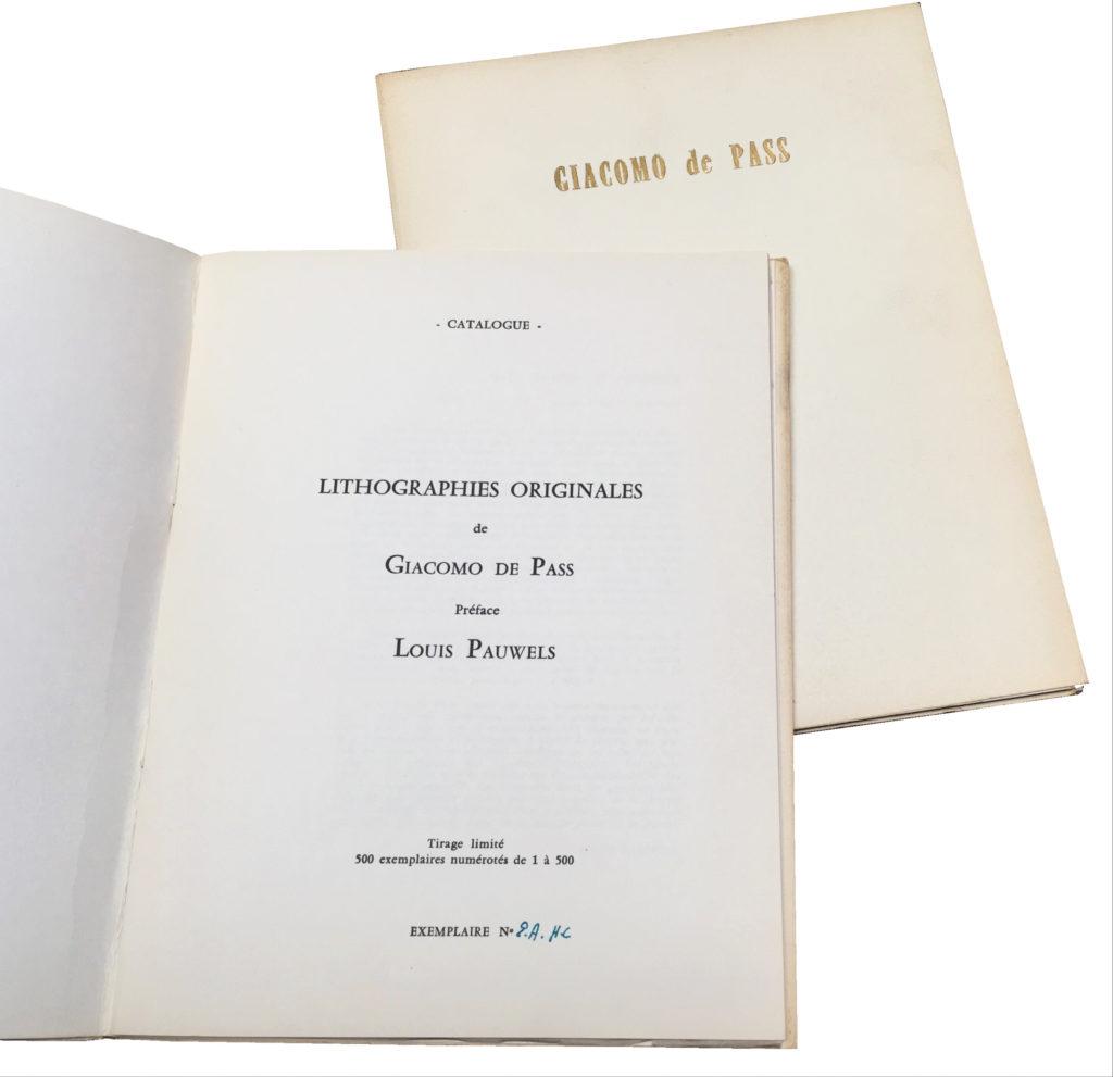 Giacomo de Pass, Recueil Lithographique