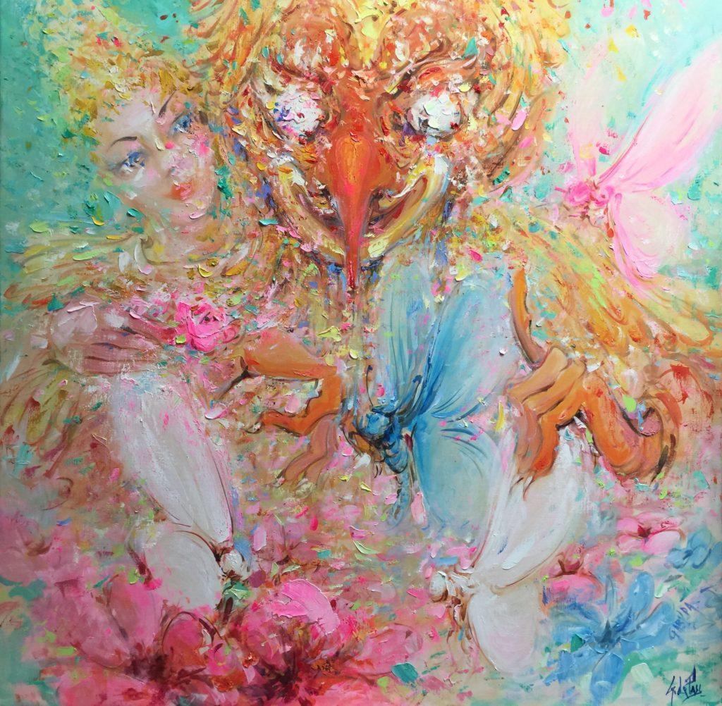 Masques et Divinités : Garuda au papillon bleu