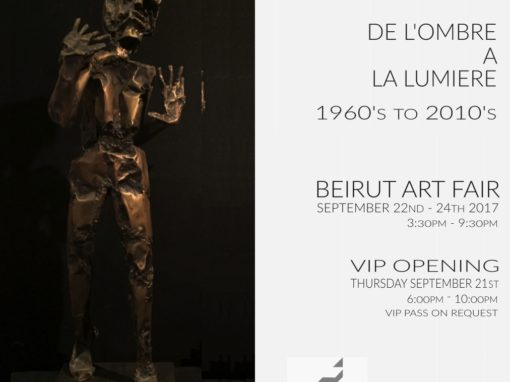 Invitation exposition Beirut Art Fair 2017
